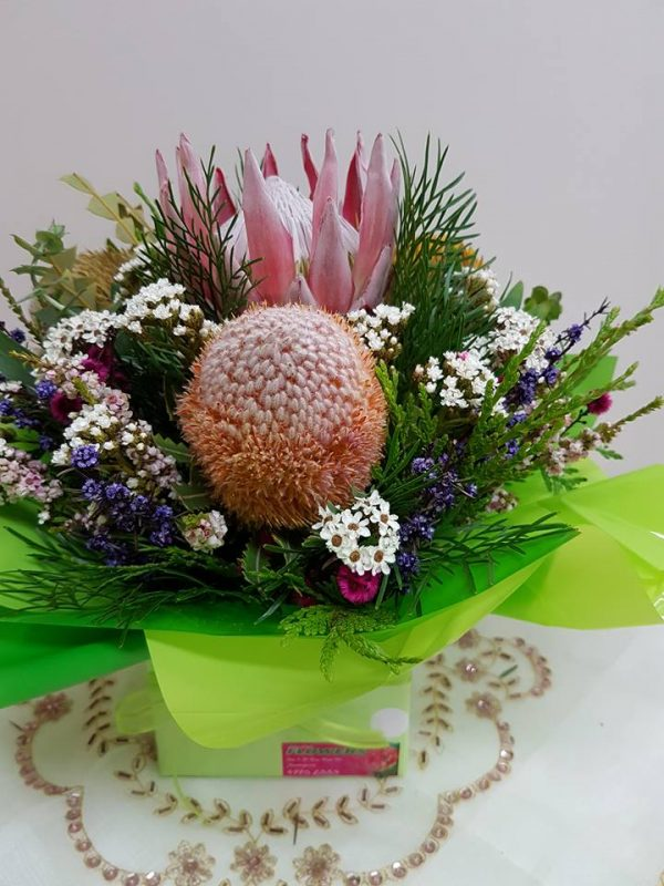 Native arrangement. Away With Flowers. Mundingburra Florist.