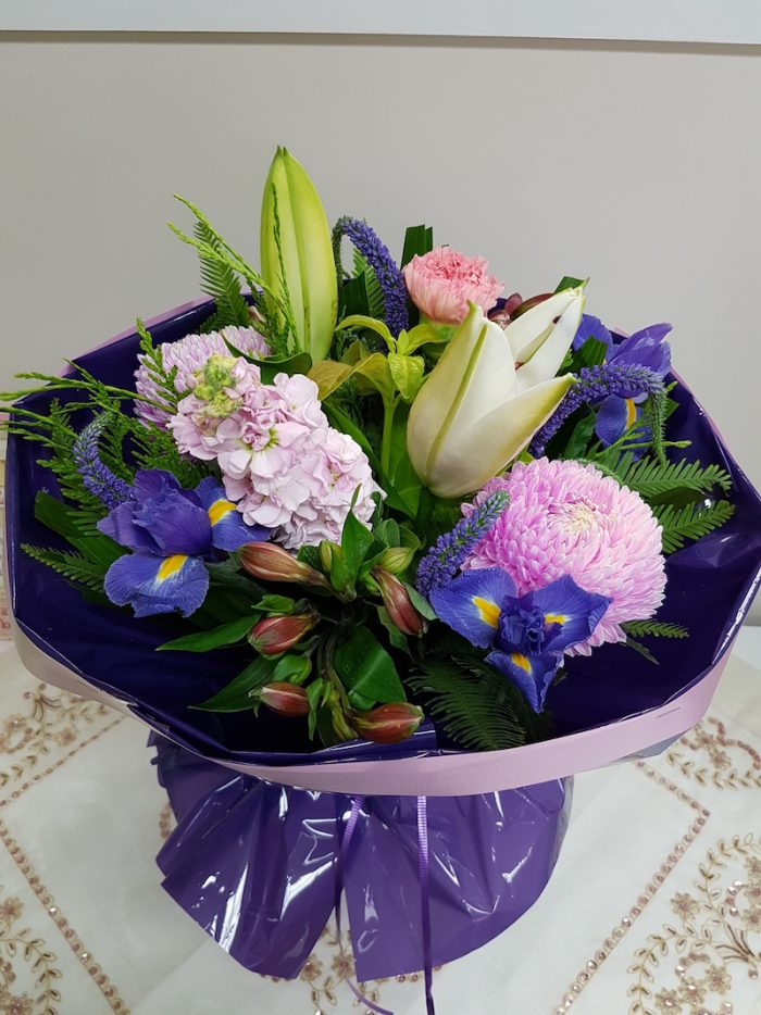 Seasonal Bouquet. Away With Flowers. Mundingburra Florist.