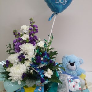 Baby Boy Hamper. Away With Flowers. Mundingburra Florist.