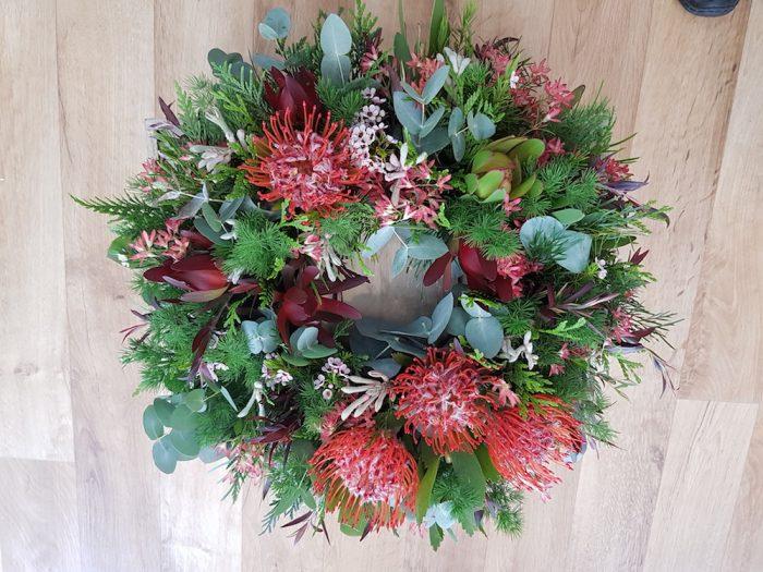 Native Wreaths. Away With Flowers. Mundingburra Florist.