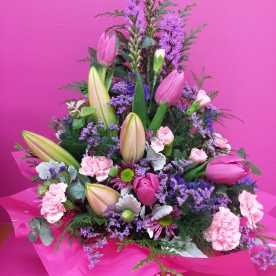 Pretty in Pink. Away With Flowers. Mundingburra Florist.