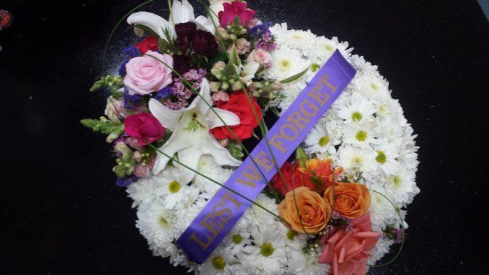 Wreath. Away With Flowers. Mundingburra Florist.
